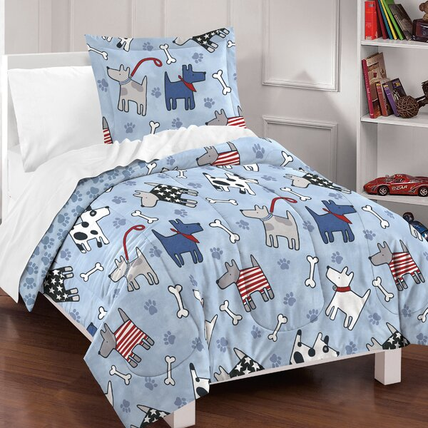 Lynnette 100% Cotton 2 Piece Reversible Comforter Set By Zoomie Kids.